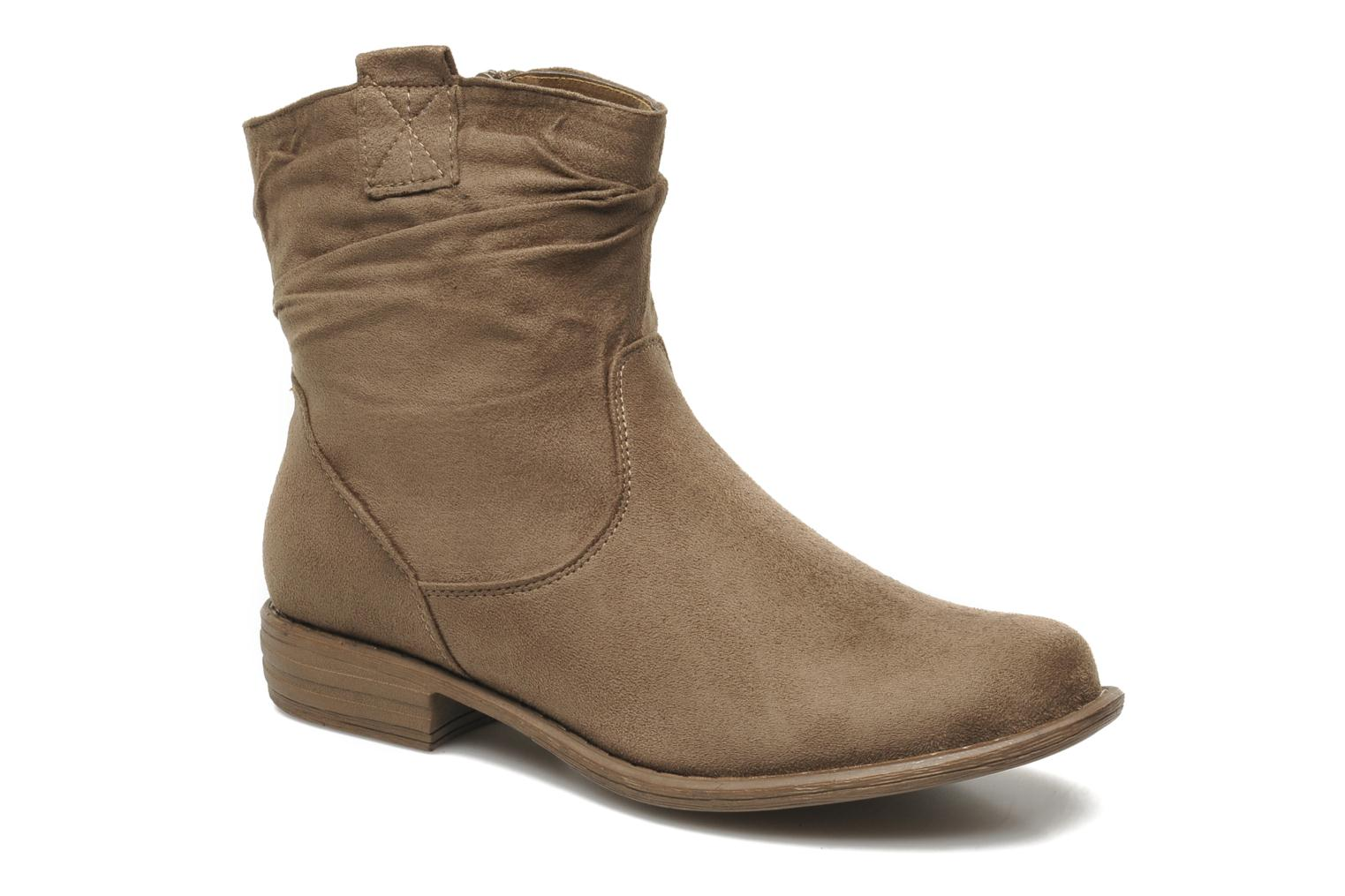 Bottines et boots I Love Shoes Thiroir Beige vue détail/paire